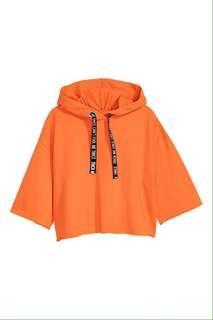 H&M Orange Cropped Hoodie