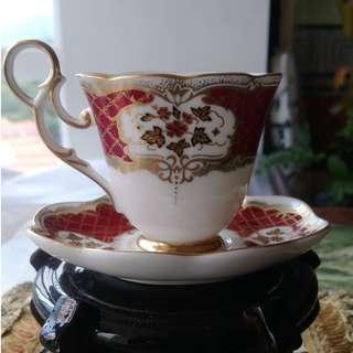 歐洲白瓷貴夫人 精細奢華典雅 咖啡杯盤僅存一只