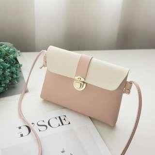 (Ready Stock) Pink Thin Small Sling Bag