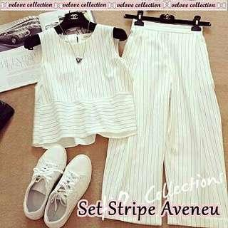 Set stripe white
