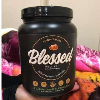 blessed protein salted caramel