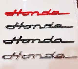 Cursive Honda Emblem with 3M sticker backing