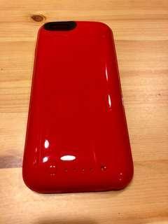 🚚 Mophie iphone 6/6S法拉利紅背蓋式行動電源