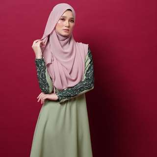 c6b4a438fbeb1 ADEELA JUBAH in dusty green from EjStyle
