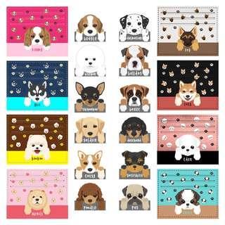 Card Holder Dompet Kartu Kulit Pocket Dog