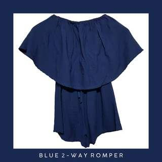 Blue 2 way Romper