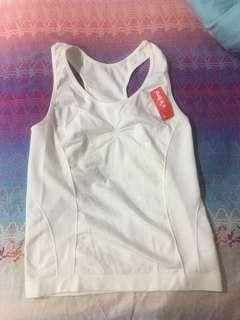 Stretchable thick white camisole