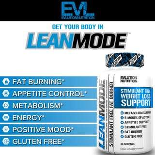 🚚 EVLUTION NUTRITION LeanMode Fat Loss Support 150 Capsules