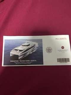 🚚 Batam Return Ferry Tickets for 2pax