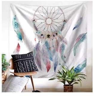 Dream catcher tapestry mat & lights