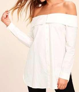 Cotton on white off shoulder