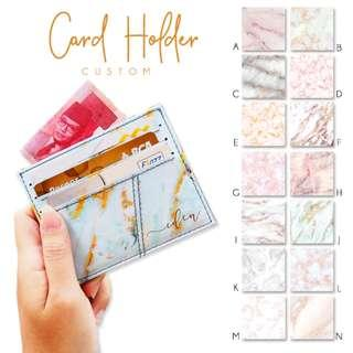 Custom Card Holder Dompet Kartu Marble