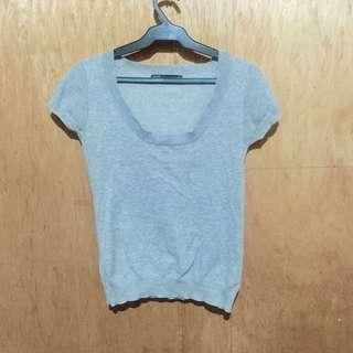 Zara Gray Stretch Shirt