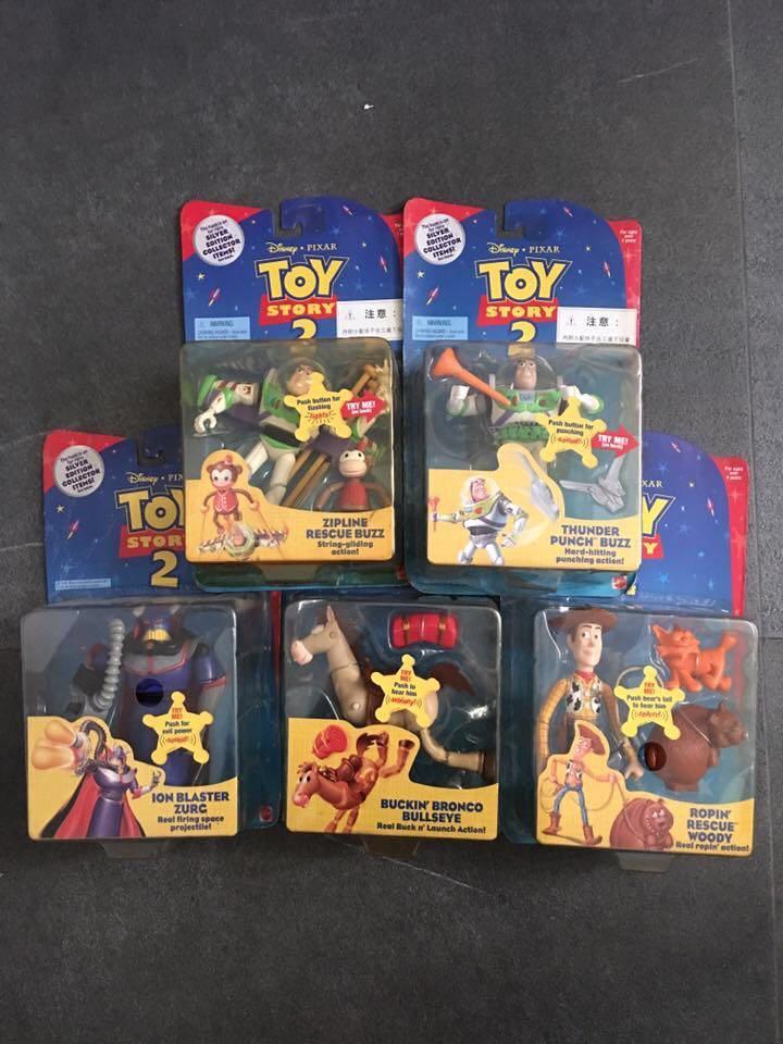 絕版 Mattel Toy Story 吸塑模型 Figure 胡迪 紅心 巴斯 索克天皇 一套五隻
