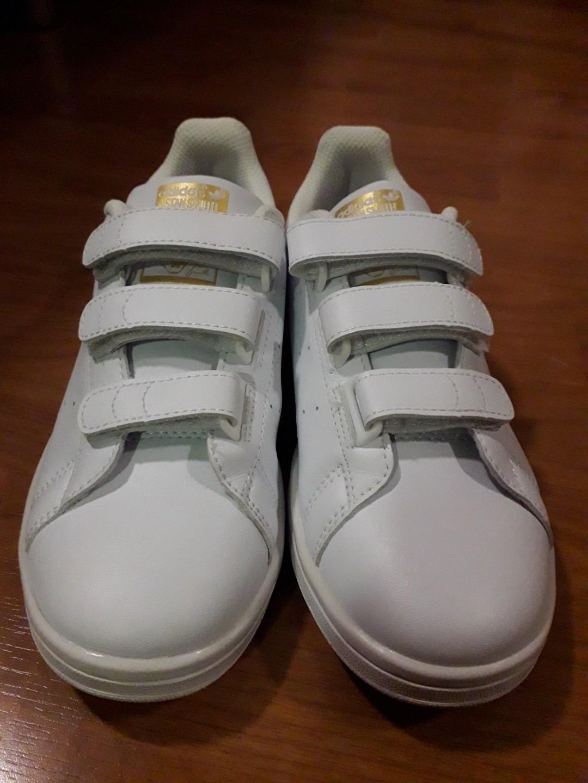 Adidas Stan Smith Velcro White \u0026 Gold