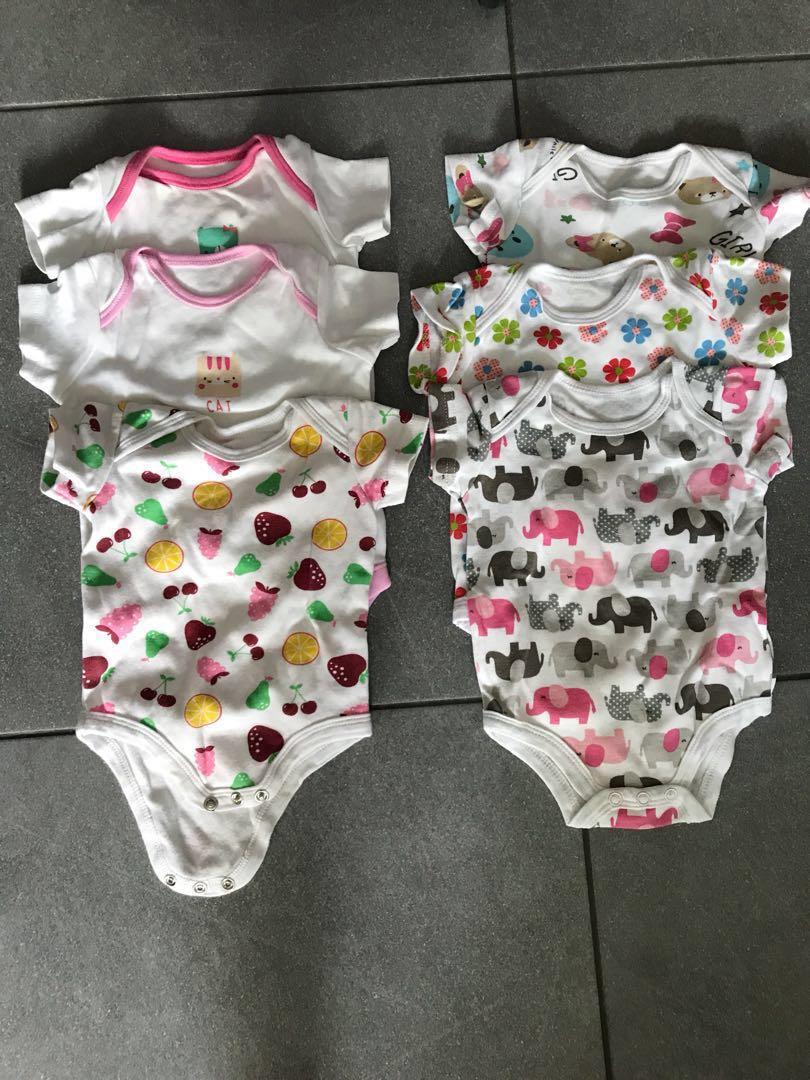 ee1b7ed55 Baby Girl Rompers - 6 packs