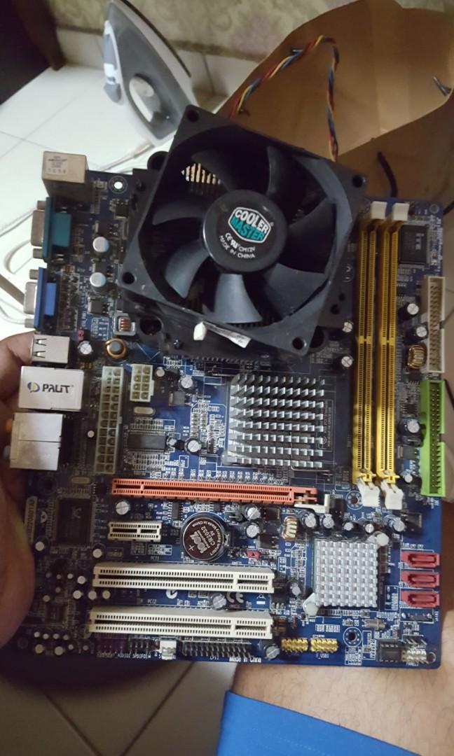 Biostar G31 with C2D 3ghz LGA775 n coolermaster fan