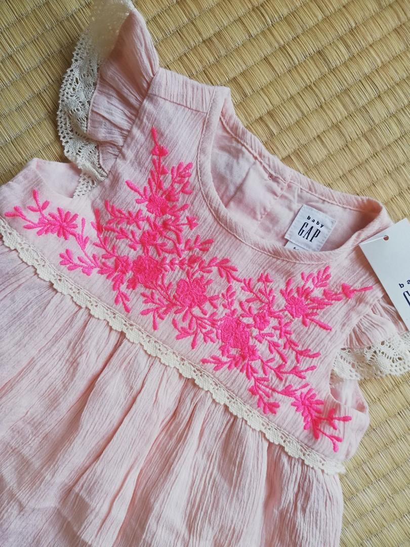 7ae3027f6 BNWT Baby Gap Girl Pink Embroidery Dress