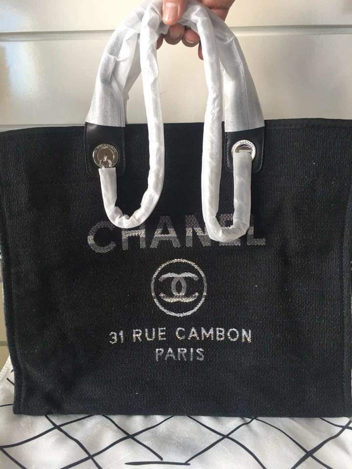 90635be0e10da2 Chanel Deauville Shopping Tote Bag, Luxury, Bags & Wallets on Carousell