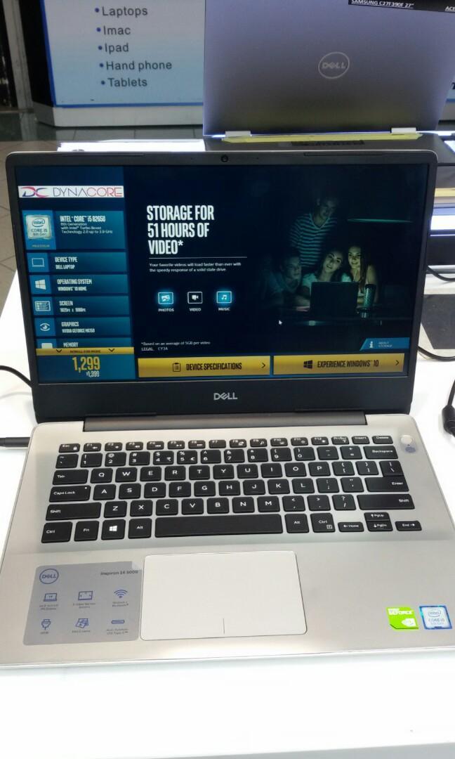 Dell inspiron 14 5000 5480 i5-8265u 8gb 256gb mx150 2gb