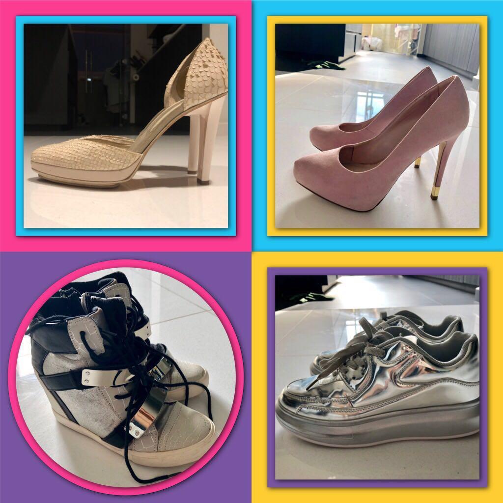 Designer heels and Platform shoes