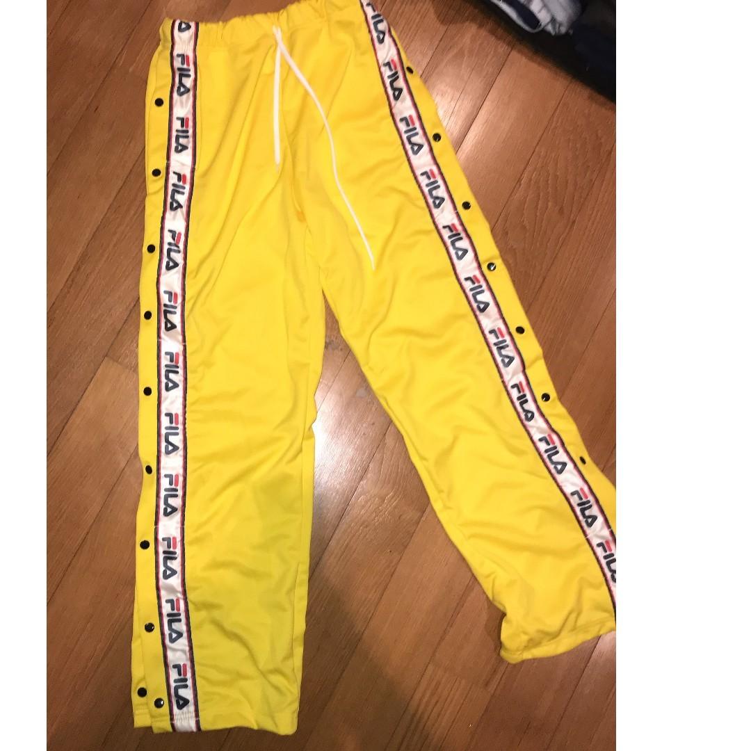 4cf7be76e373 FILA TEARAWAY DRAW STRING BUTTON DOWN PANTS, Women's Fashion ...