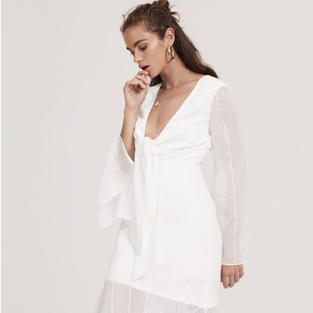 06361e1fcd9 White Long Sleeve Midi Dress Australia - Data Dynamic AG