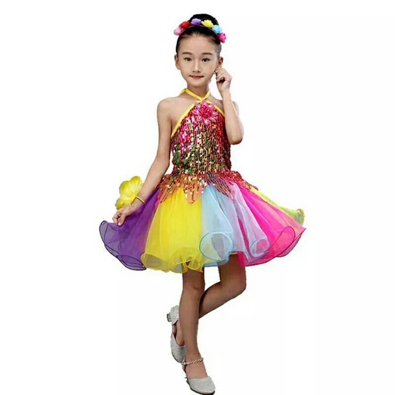b34c435c9365 Girls Ballet Dress For Children Girl Dance Kids Sequins Ballet ...