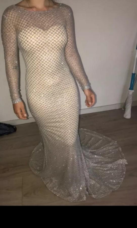 Golden floor length dress