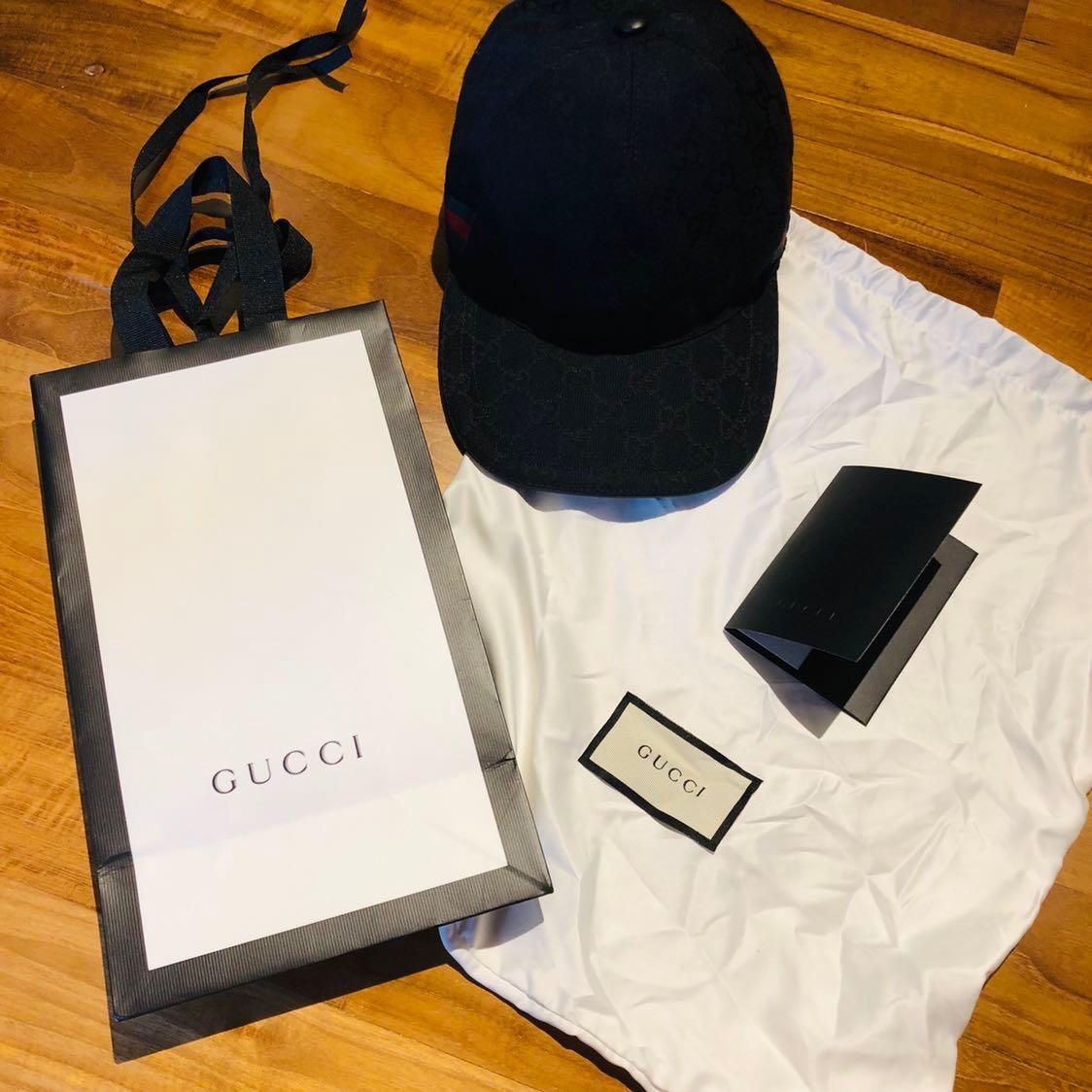 6c9ff3bd4 Gucci black cap size M, Men's Fashion, Accessories, Caps & Hats on ...