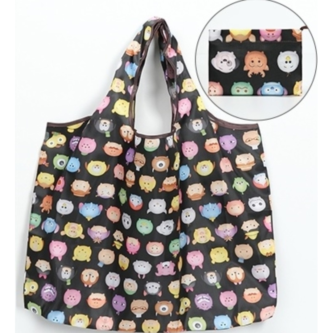 01d27fdb7 INSTOCK ❤ Cartoon Foldable Waterproof Lightweight Recycle Bag ...