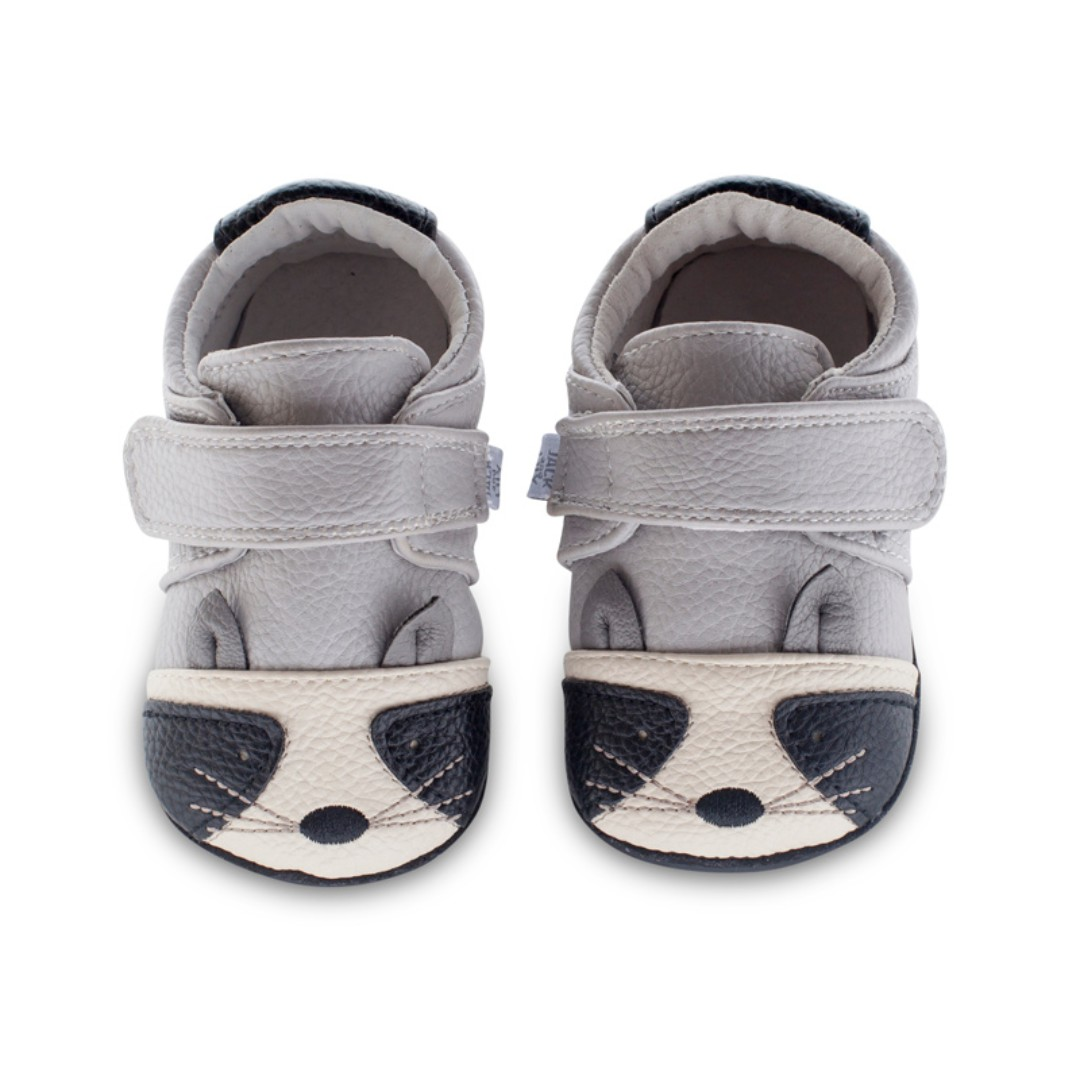 c0c7587d6b067 Jack & Lily Shoes - My Mocs Collection (Cutie Raccoon) Baby Leather Shoes