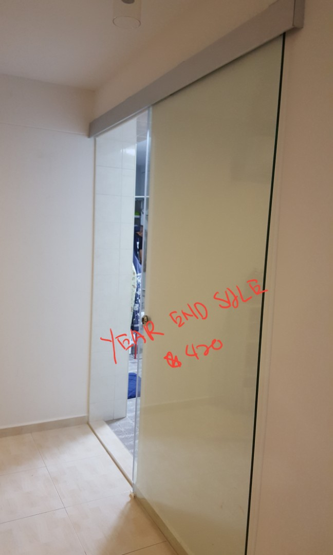 Kitchen entrance sliding gl door (clear), Furniture, Others on ... on