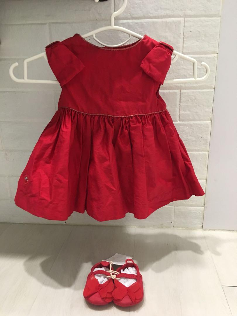 69c0328b3b232 Little Red Dress with matching Red Shoes! (0-3 months, baby girl ...