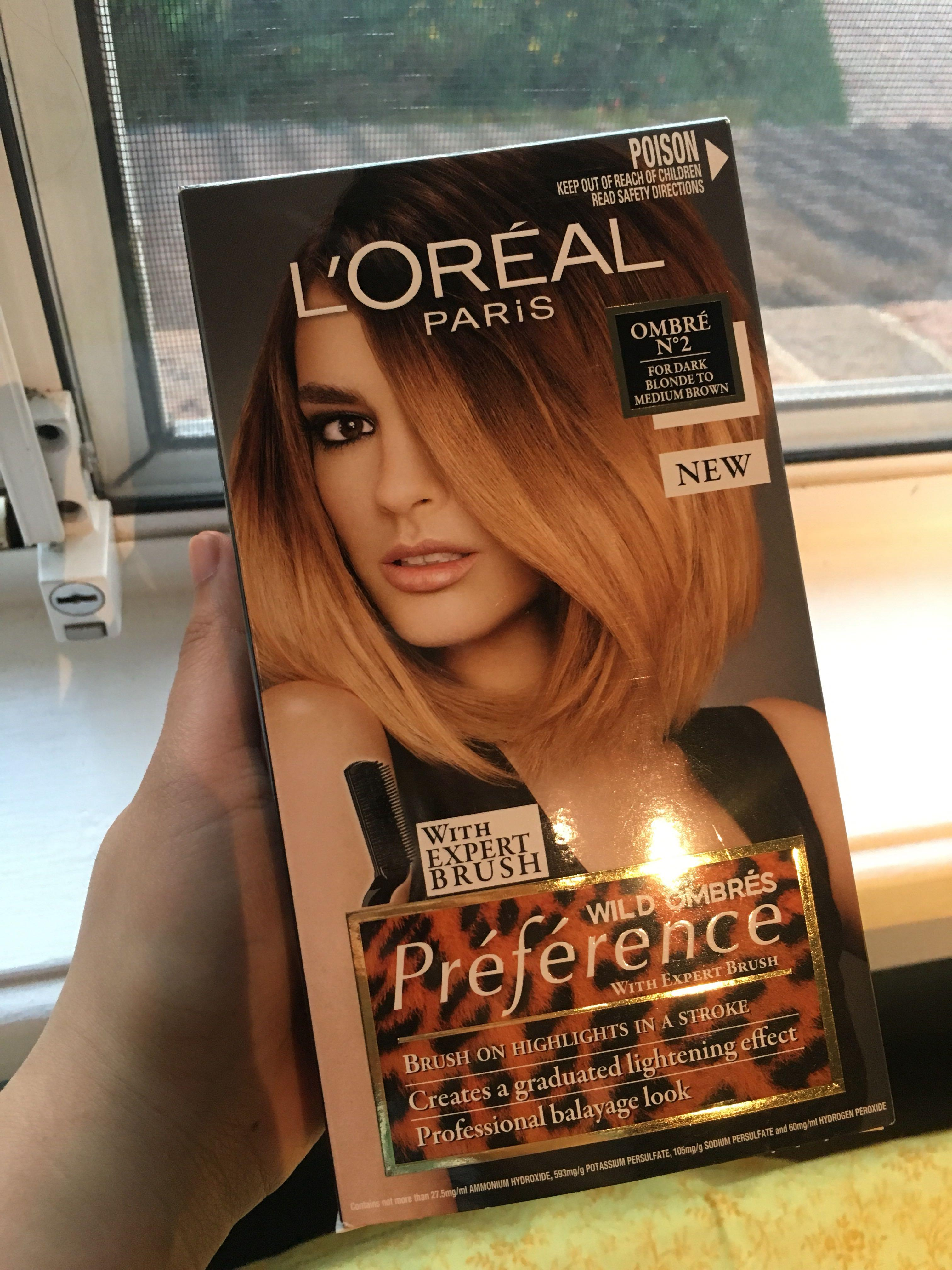 L'oreal paris preference wild ombre 02 for dark blonde to medium brown