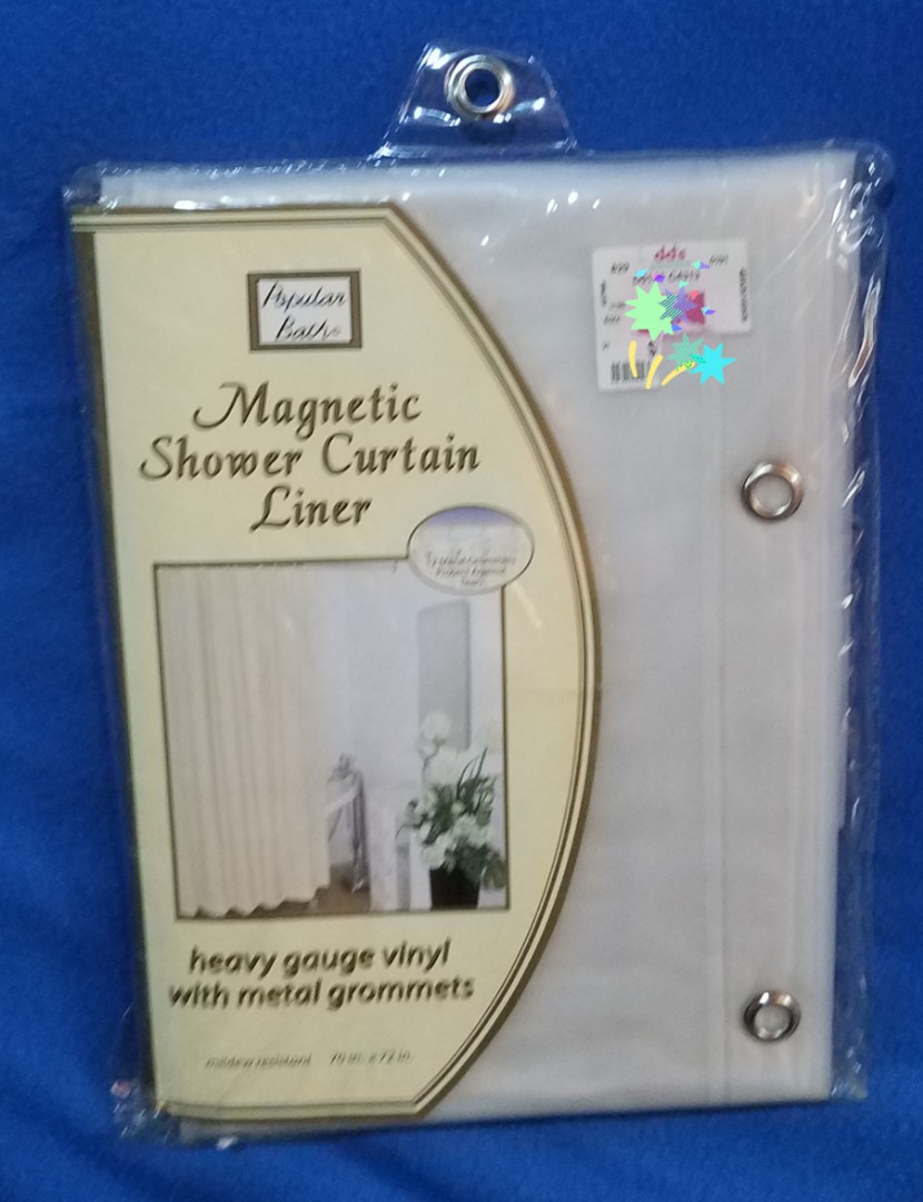 MAGNETIC SHOWER CURTAIN LINER Home Furniture On Carousell