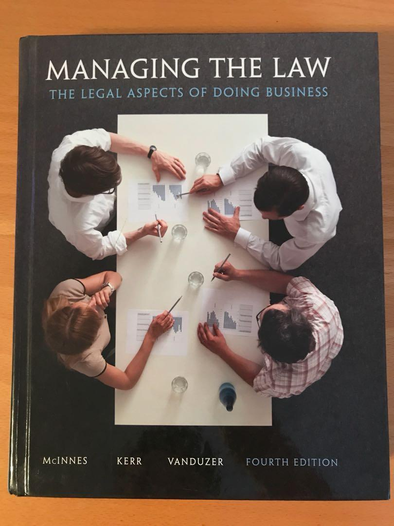 Managing The Law (fourth edition)