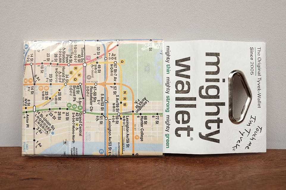 Nyc Subway Map Zippered Wallet.Mighty Wallet By Dynomighty Nyc Subway Map