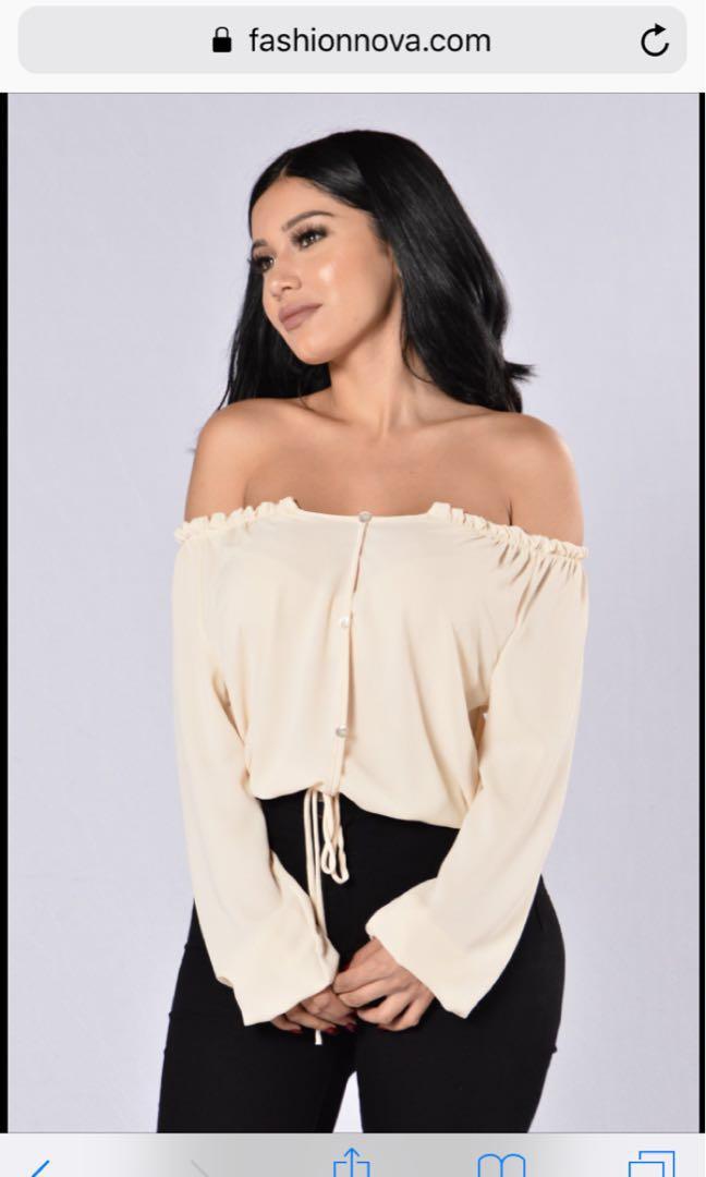 67957369df0f07 Off shoulder top Fashionnova fashion nova