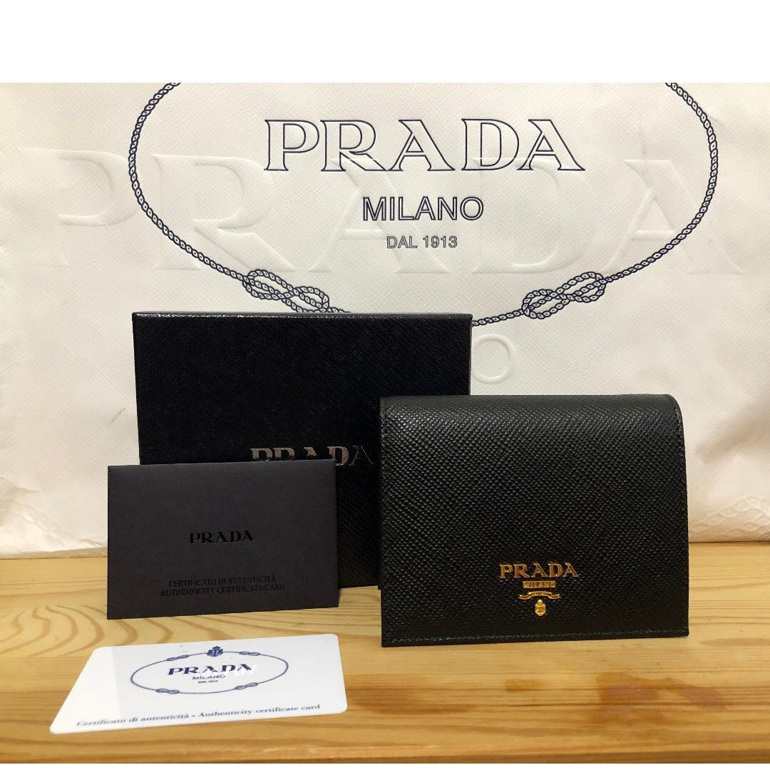 b88ed2004168 Prada Ladies Bi-Fold Wallet In Black Color ( 1MV204 ) , Luxury, Bags ...