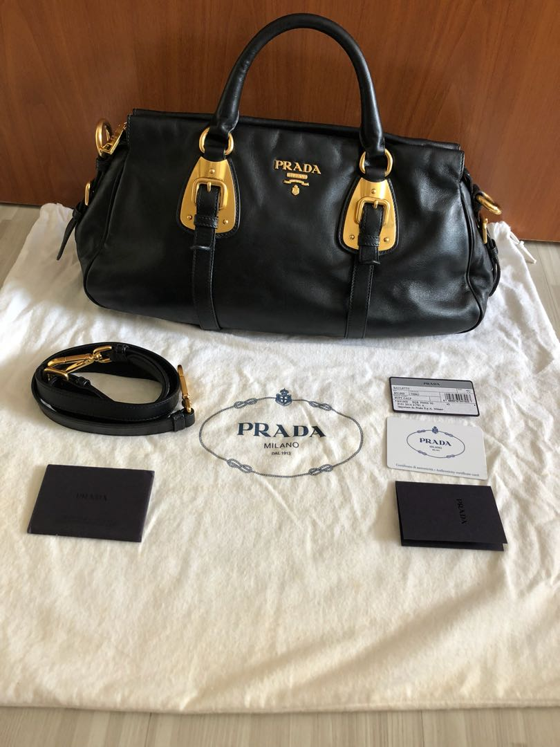 2a2f54a368f5fa Prada leather bag Authentic, Luxury, Bags & Wallets, Handbags on ...