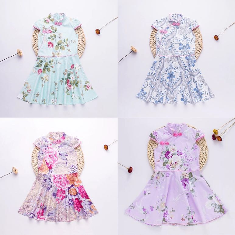 6facf27e81e3 Princess Cut Floral Cheongsam  PO    CNY clothes for kids children ...