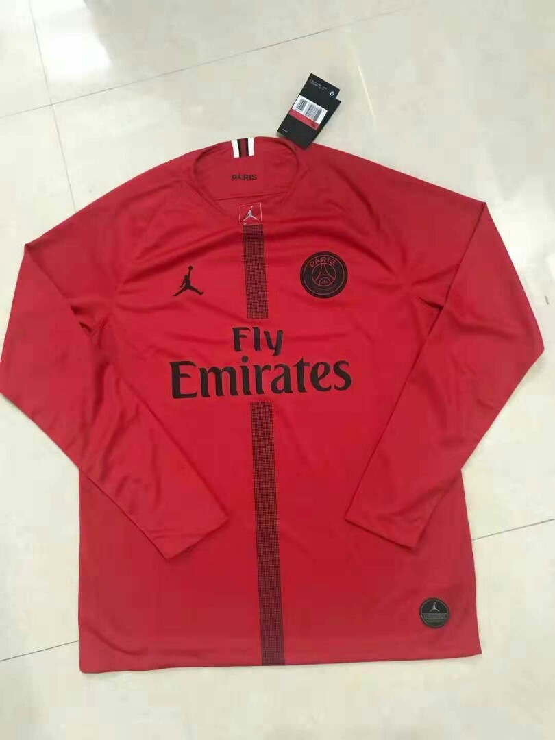 e266c548568 PSG 18-19 Jordan GoalKeeper Long Sleeve Jersey, Sports, Sports ...
