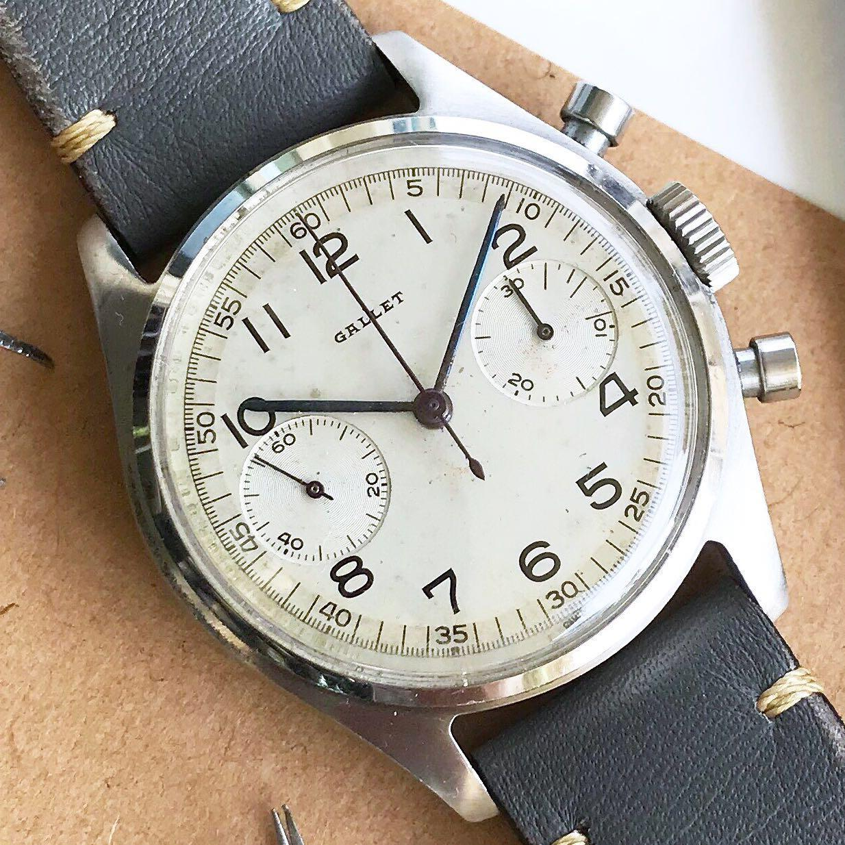 Rare Gallet Chronograph, Luxury, Watches on Carousell