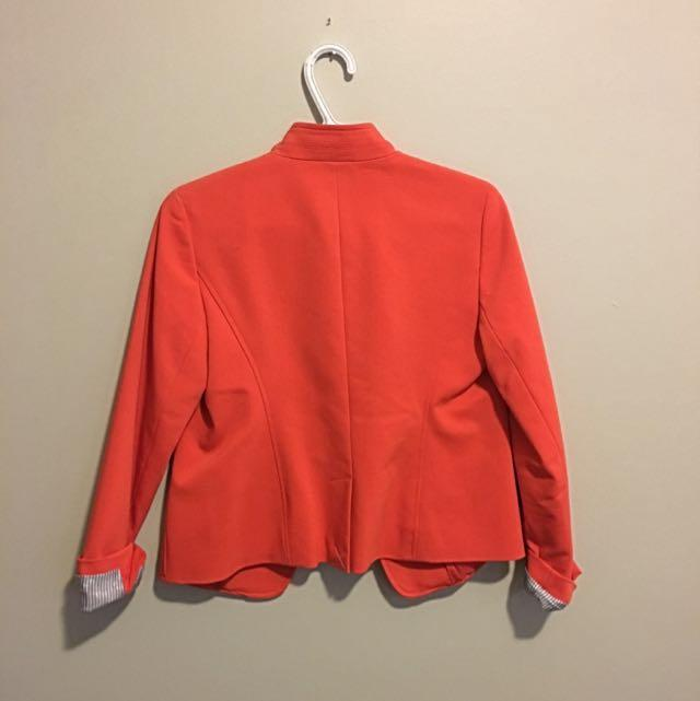 Reduced! Ann Taylor Loft Orange Blazer