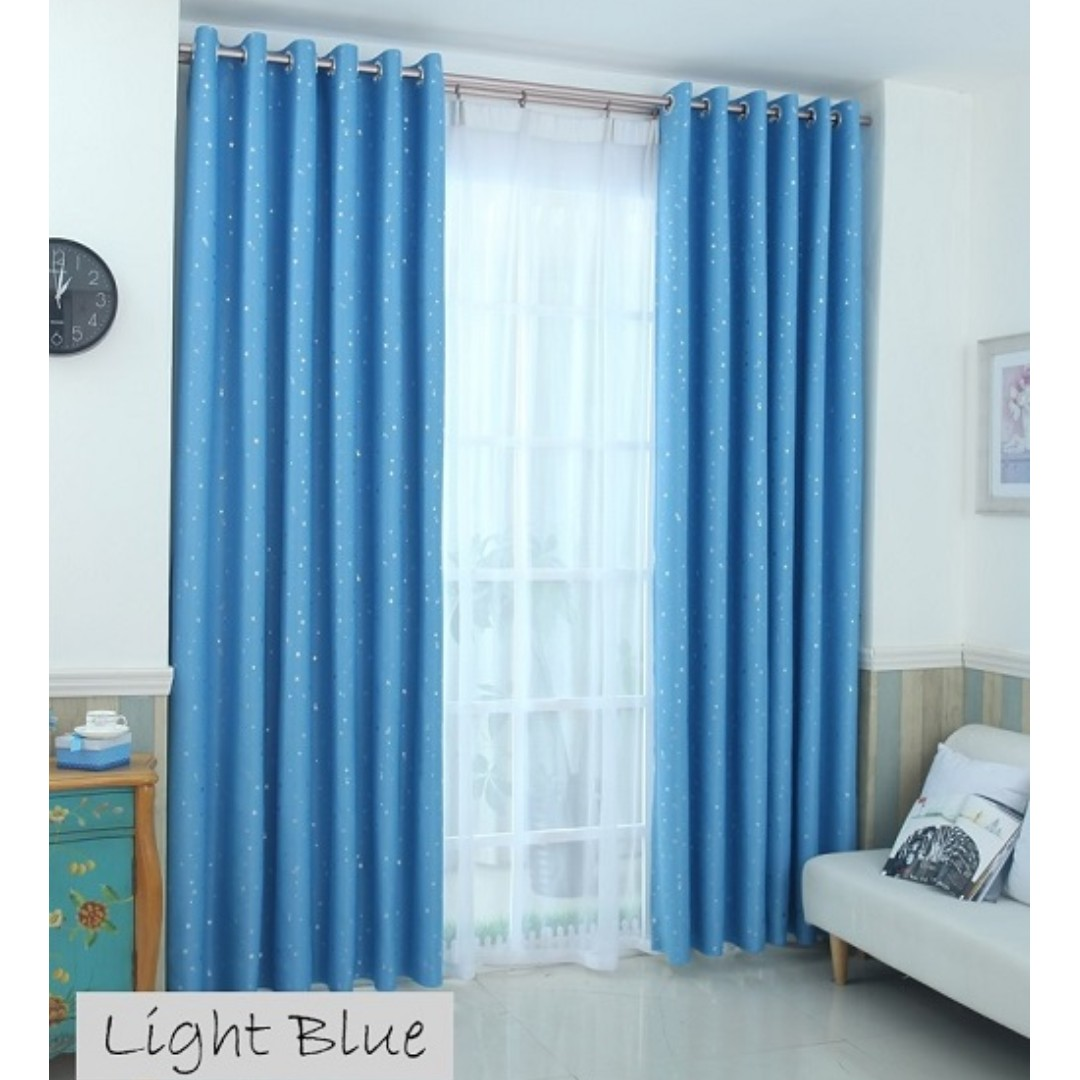 Ring Light Blue Blackout Curtain Furniture Others On Carousell