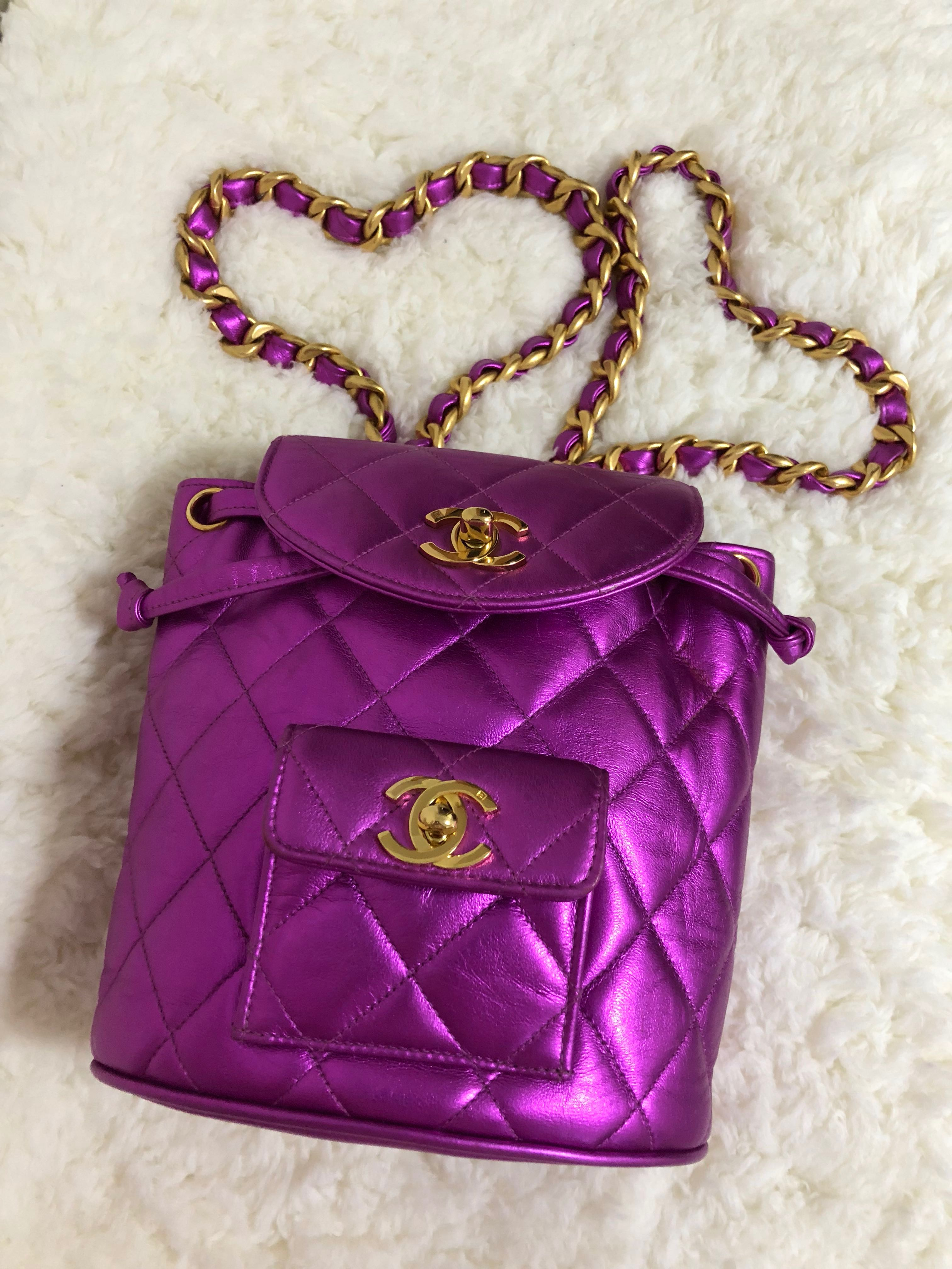 dadc49cea0a5fb SOLD)Vintage Chanel mini Duma, Luxury, Bags & Wallets on Carousell