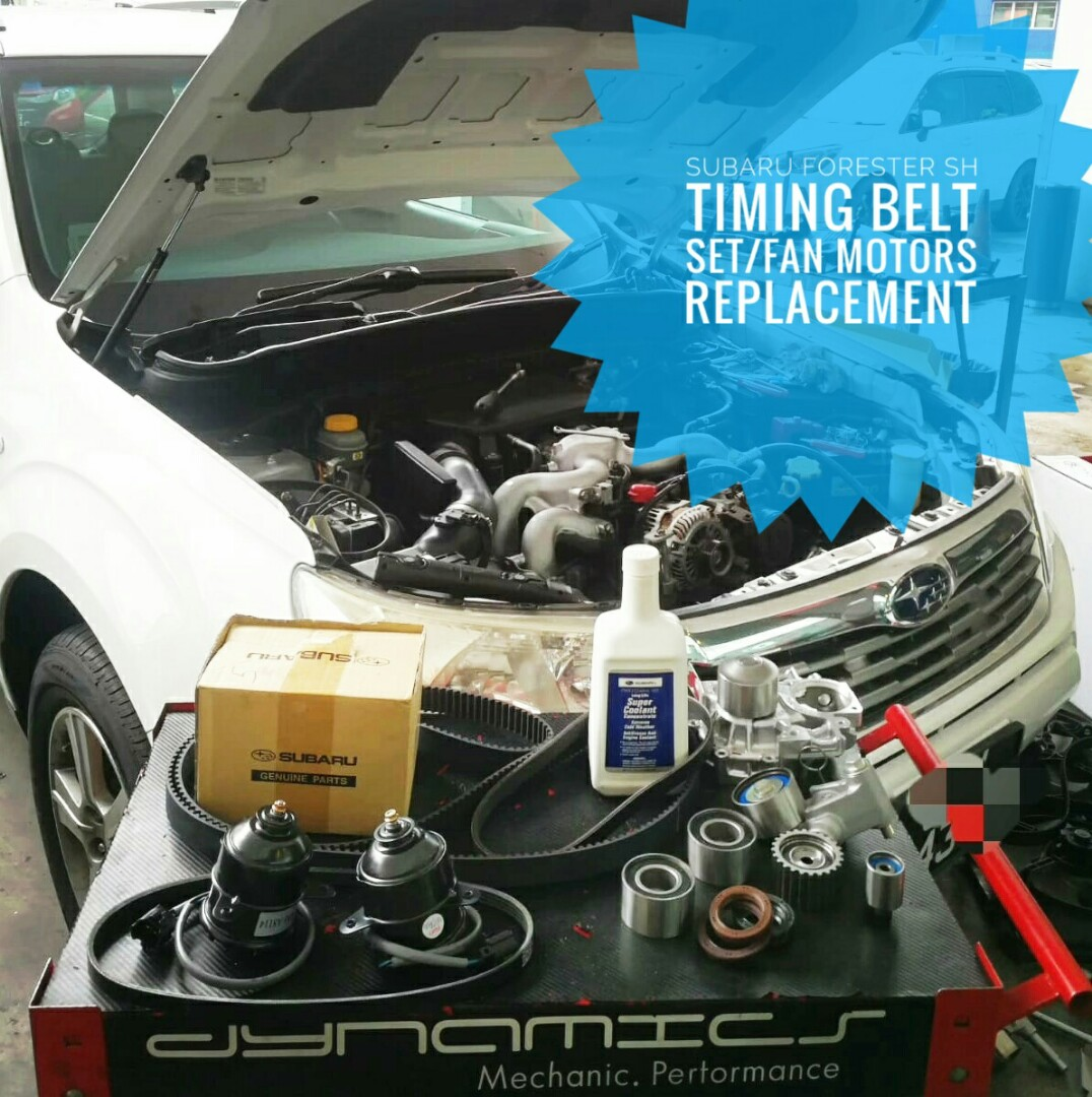 Subaru Forester SH:- Full set Timing Belt replacement