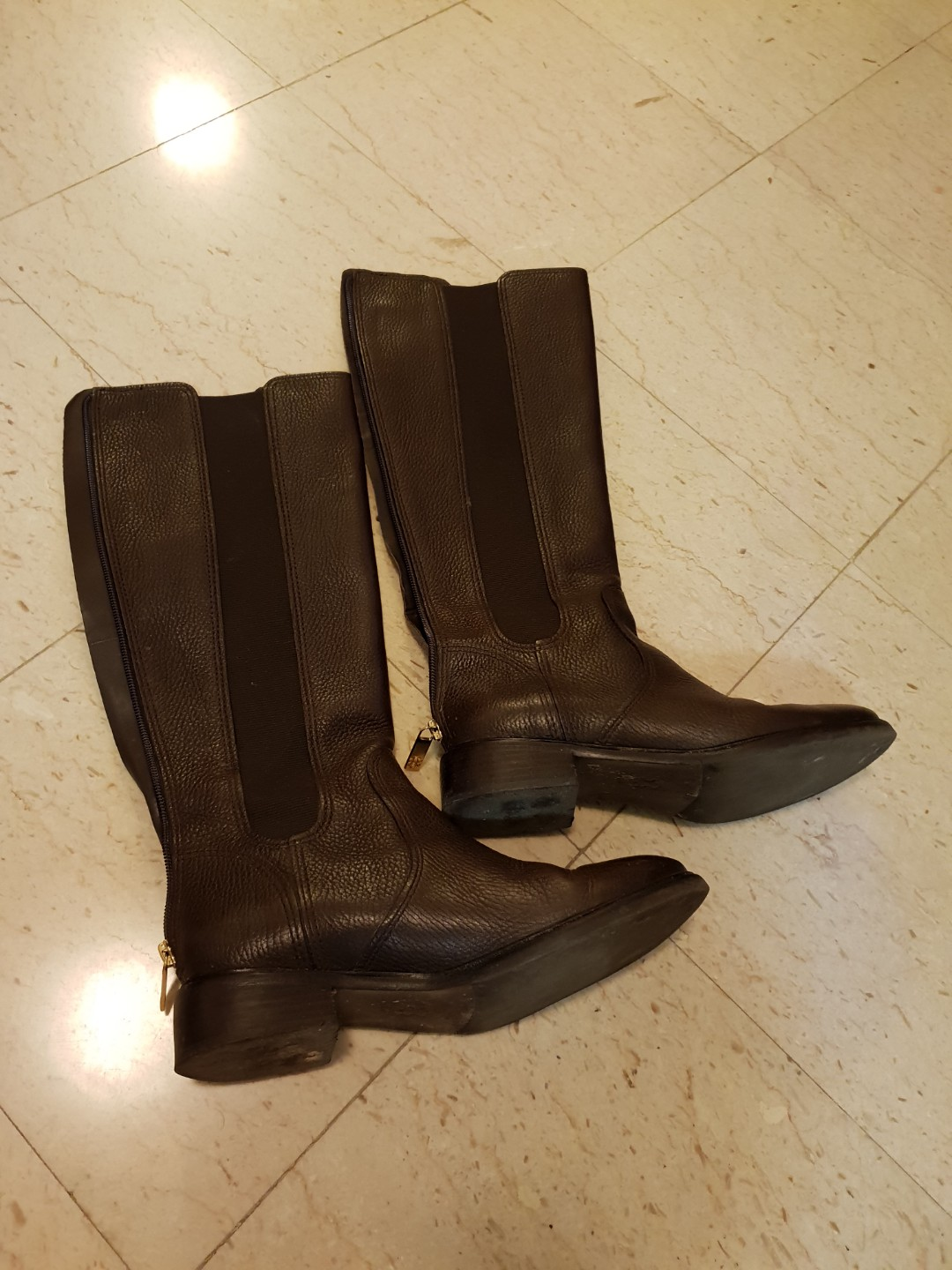 1f51b7ccffd Tory Burch brown leather winter boots