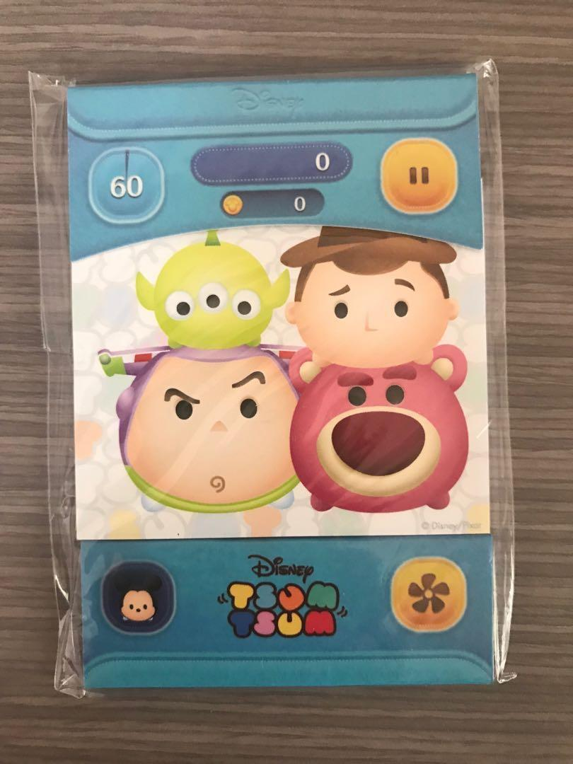 (全新)TsumTsum 便條紙-玩具總動員